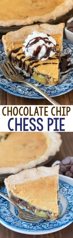 Chocolate Chip Chess Pie | 19 Chocolate Pies That Prove Happiness Is Within Reach