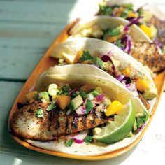 Recipe: Grilled Fish Tacos. Quite possibly the best fish tacos ever. | From Organic Gardening