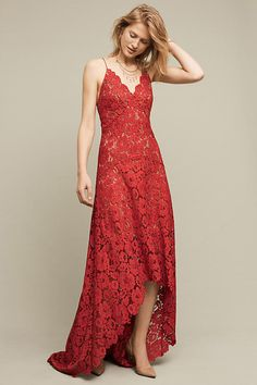 Slide View: 1: Finola Lace High-Low Gown