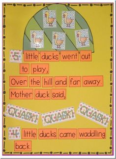 Interactive Chart, Sight Word Reader, and a Flip Book5 Little Ducks style!