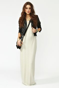 Day Tripper Maxi Dress and Leather Jacket
