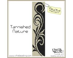 Peyote Pattern for bracelet: Tarnished Nature - INSTANT DOWNLOAD pdf - buy more, save more by VikisBeadingPatterns on Etsy https://www.etsy.com/listing/59501990/peyote-pattern-for-bracelet-tarnished
