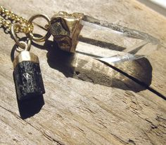 Gold Dipped Raw Crystal Necklace