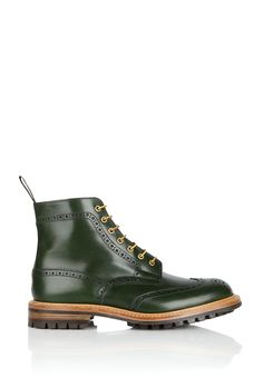 Tricker's - Forest Green Leather Brogue Stow Boot