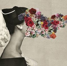 primavera Collage Kunst, Art Du Collage, Mixed Media Collage, Flower Collage, Face Collage, Surreal Collage, Photomontage, Collages, Graffiti Artwork
