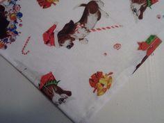 Bandana/Scarf Tie On Christmas Bassett Hounds Custom Made by Linda xS, S, M, L #CustomMadebyLinda