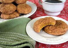 Soft, chewy Pumpkin Snickerdoodles. And they're vegan! #fall #dessert #cookies