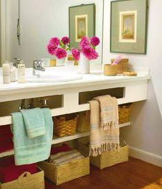 Organização: Cestos no banheiro