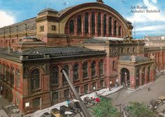 Anhalter Bahnhof Ralway Station in Berlin Germany about 1940. The station was at one point the largest railway station in Continental Europe but was damaged during WWII and abandoned in 1952.