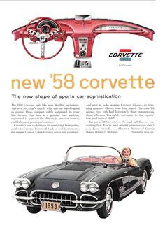 1957/1958 Chevrolet Corvette Ad