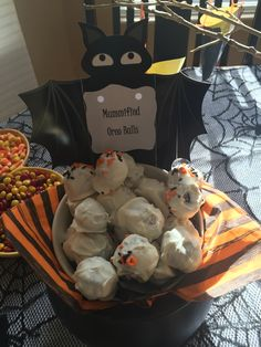Mummified oreos for a Switch Witch Halloween party!