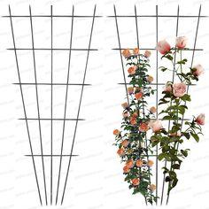 Lot de deux treillages très résistant pour vos rosiers En acier, ce treillage résiste aux épines de rosier et aux intempéries. Treille à placer en...