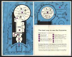 1964 worlds fair GM Futurama visitors guide