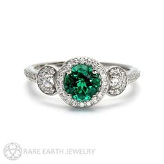 Hey, I found this really awesome Etsy listing at https://www.etsy.com/listing/208033535/emerald-engagement-ring-emerald-ring-3