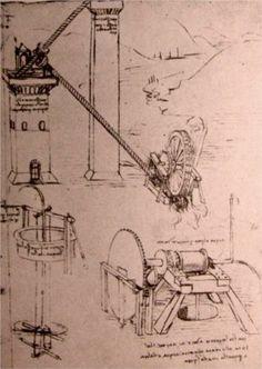 Drawings of machines - Leonardo da Vinci