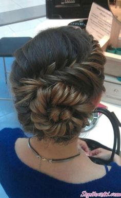 an amazing conch shell braid. Try an amazing conch shell braid. Up Hairstyles, Pretty Hairstyles, Wedding Hairstyles, Wedding Updo, Hairstyle Ideas, Prom Updo, Perfect Hairstyle, Teenage Hairstyles, Amazing Hairstyles