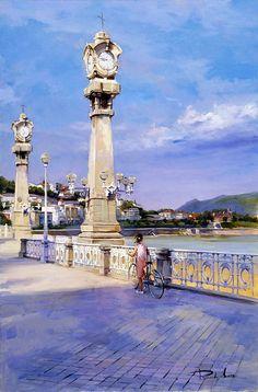 Ricardo Sanz  increible pintor nació en San Sebastián (España) a finales de los 50 del siglo pasado, su familia, estaba estrechamente rela...