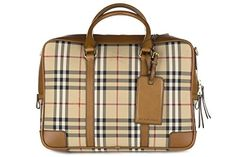 #Burberry #briefcase #attachécase laptop pc #bag leather horseferry checknewburg br