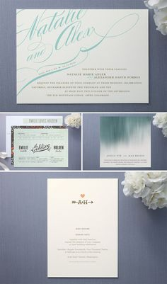 I like how everything is different and I like the script on the invite