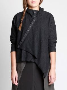 MARL KNITTED COTTON-POLYESTER CARDIGAN