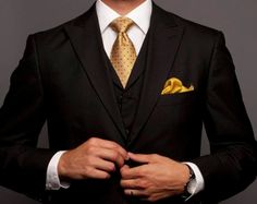 Gold and black - ultimate suit color combo