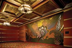 Alameda Theatre Mural -- the historic Alameda Theatre is 80 years old,1932-2012! Relive opening night on August 16, 2012. Info: http://www.shopparkstreet.com/theatre.html
