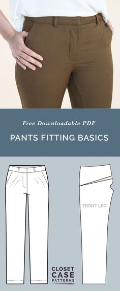 Pants Fitting Adjustments // Best tips for Pants Fitting // Closet Case Patterns via @closetcasepatt