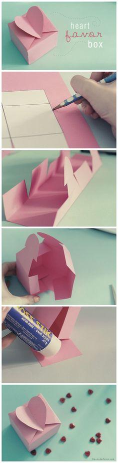 DIY Heart Favor Box Tutorial: