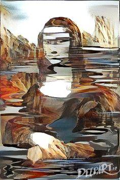 Mona Lisa lake island
