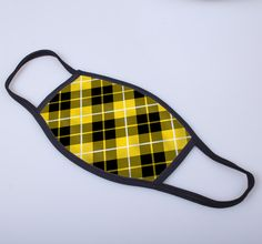 non medical face covering with Barclay printed tartan
