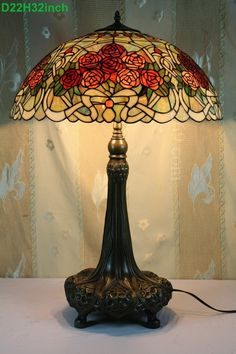 Rose Tiffany Lamp  22S0-57RT500