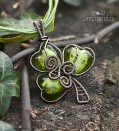 #clover #wire wrapped #pendant