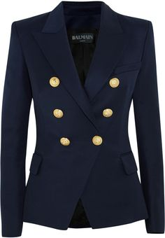 Shared via Stylicious: Balmain Double-Breasted Wool-Twill Blazer https://api.shopstyle.com/action/apiVisitRetailer?id=505807421&pid=uid2724-23978418-92