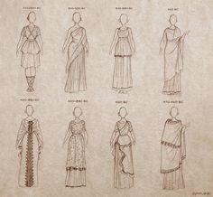 Gli Arcani Supremi (Vox clamantis in deserto - Gothian): Abbigliamento nell'Antica Grecia