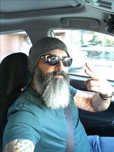 The Beard & The Beautiful Moustache, Beard No Mustache, Badass Beard, Epic Beard, Grey Beards, Long Beards, Hairy Men, Bearded Men, Shaved Head With Beard