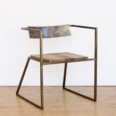 sustainable steel, brass and salvaged wood by Seattle design pair Tamara Codor and Sterling Voss