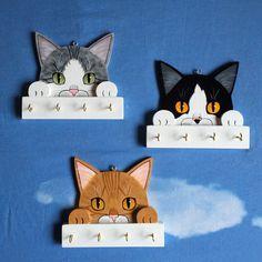 gattosi appendini in legno dipinti a mano PERSONALIZZABILI! www.gattosi.com