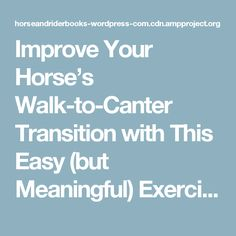 Improve Your Horse's Walk-to-Canter Transition with This Easy (but Meaningful) Exercise – Trafalgar Square Books Blog