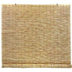 Symple Stuff Reed Cord Free Semi-Sheer Roll-Up Shade Blind Size: x Blind Color: Natural Brown Blackout Roman Shades, Bamboo Roman Shades, Blinde, Solar Shades, Sun Shades, Cellular Shades, Outdoor Sun Shade, Decor Pillows, Shades Blinds