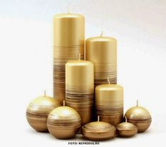 ABruxinhaCoisasGirasdaCarmita: Velas decorativas