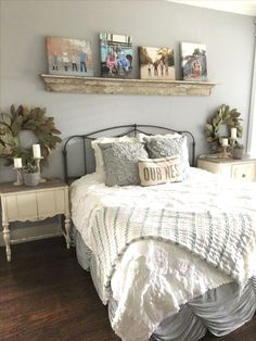 home decor - 42 Stylish Bedroom Decor Ideas for the Latest Style Designs Farmhouse Master Bedroom, Master Bedroom Design, Home Bedroom, Design Bathroom, Bedroom Rustic, Master Bedrooms, Bedroom Stuff, Spare Bedroom Paint Ideas, Bedroom Designs