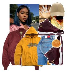 """""""trust myself"""" by bbylex23 ❤ liked on Polyvore featuring Alpha Industries, Stussy, Tommy Hilfiger and Charlotte Russe"""