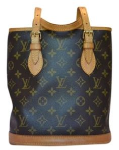 Louis Vuitton Monogram Canvas Petit Bucket Shoulder Bag $562