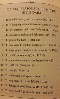 15 reasons to read the Bible daily
