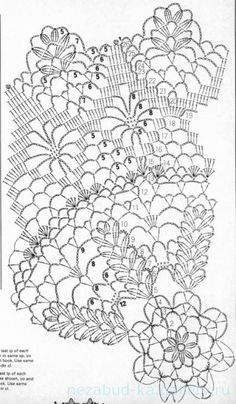 Crocheted doily - Table Centre, in The Super Lacecrafts Collection, A Coats Publication, Book copyright Printed in England. Cotton Crochet Patterns, Crochet Tablecloth Pattern, Crochet Doily Diagram, Filet Crochet Charts, Crochet Mandala, Crochet Designs, Crochet Home, Crochet Crafts, Thread Crochet