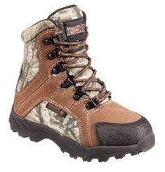 ROCKY Hunting Waterproof Insulated Boots for Kids - Dark Brown/Mossy Oak Break-Up Infinity - 12.5