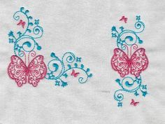 Butterfly Borders and Corners Machine Embroidery Designs  http://www.designsbysick.com/details/butterflycandb