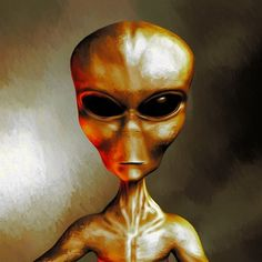 Painting - Alien by Esoterica Art Agency , Aliens And Ufos, Ancient Aliens, Framed Art Prints, Canvas Prints, Esoteric Art, Art Boards, Decorative Throw Pillows, Fantasy, Wall Art