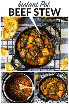 Business Cookware Ought To Be Sturdy And Sensible Easy, Healthy Instant Pot Beef Stew. Self-destruct Tender Beef In The Most Flavorful Sauce Loaded With Veggies, Paleo, Gluten Free, And Whole 30 Friendly. Instapot Beef Stew, Beef Stew Paleo, Easy Beef Stew, Beef Recipe Instant Pot, Best Beef Recipes, Whole30 Beef Recipes, Free Recipes, Beef Meals, Healthy Recipes