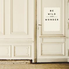 Be Wild & Wonder Illustrated Typography Quote Print Fine Art Home Decor Home and Wall Art Black and White Decor on Etsy, $20.00